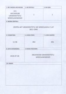 Rektorats- und Senatoren-Wahlen sowie die Rektorats-Übergabe, 2.11.1932 - 12.10.1936
