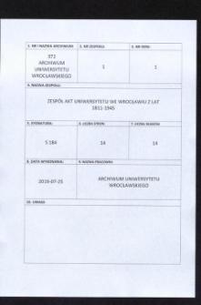 Zarządzenia rektora dotyczące studentów obcokrajowych, 21.06.1939 - 29.08.1939