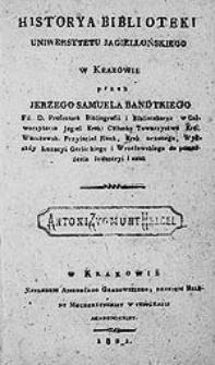 Historya Biblioteki Uniwersytetu Jagiellońskiego w Krakowie