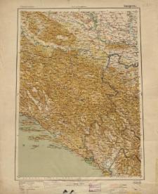 Übersichtsblatt der Operationskarte 1:800 000 - Sarajewo