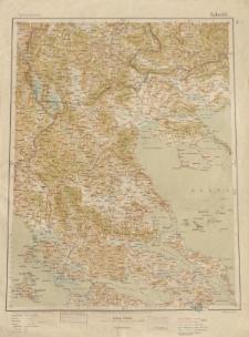 Übersichtsblatt der Operationskarte 1:800 000 - Saloniki