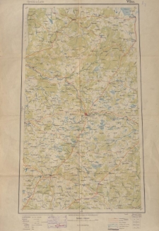 Übersichtsblatt der Operationskarte 1:800 000 - Wilna