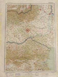 Übersichtsblatt der Operationskarte 1:800 000 - Bukarest
