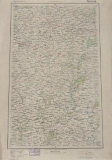 Übersichtsblatt der Operationskarte 1:800 000 - Woronesh