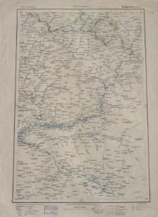 Übersichtsblatt der Operationskarte 1:800 000 - Kalatsch (am Don)