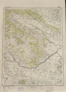 Übersichtsblatt der Operationskarte 1:800 000 - Tiflis
