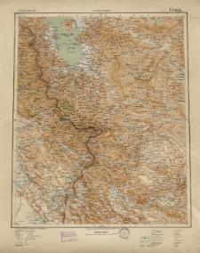 Übersichtsblatt der Operationskarte 1:800 000 - Úrmija