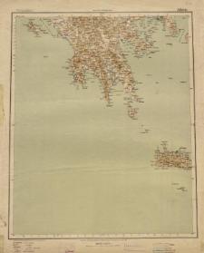 Übersichtsblatt der Operationskarte 1:800 000 - Athen