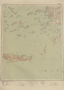 Übersichtsblatt der Operationskarte 1:800 000 - Aidin
