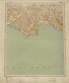 Übersichtsblatt der Operationskarte 1:800 000 - Adalia