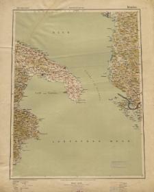 Übersichtsblatt der Operationskarte 1:800 000 - Brindisi