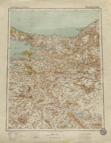 Übersichtsblatt der Operationskarte 1:800 000 - Konstantinopel