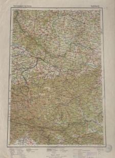 Übersichtsblatt der Operationskarte 1:800 000 - Salzburg