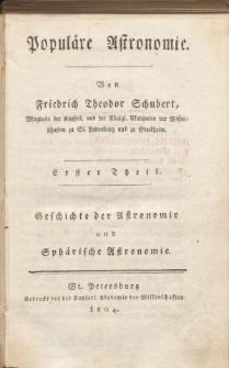 Populare Astronomie. Tl. 1