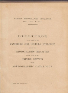 Oxford Astrographic Catalogue
