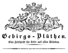 Schlesische Gebirgs-Blüthen. Eine Zeitschrift für Leser aus allen Ständen 1835-01-15 Jg. 1 Nr 3