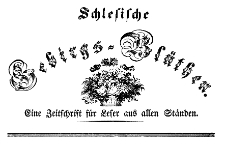 Schlesische Gebirgs-Blüthen. Eine Zeitschrift für Leser aus allen Ständen 1844-06-27 Jg. 10 Nr 26