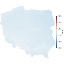 Średnia temperatura grudnia