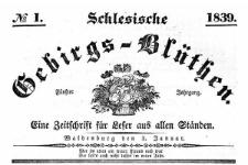 Schlesische Gebirgs-Blüthen. 1839-05-09 Jg. 5 Nr 19