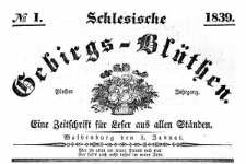 Schlesische Gebirgs-Blüthen. 1839-11-28 Jg. 5 Nr 48