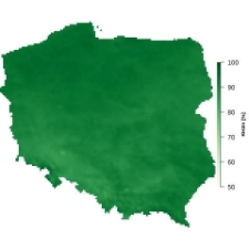 Średnia wilgotność powietrza w styczniu
