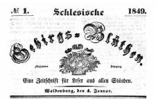 Schlesische Gebirgs-Blüthen. 1849-07-19 Jg. 15 Nr 29