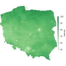 Średnia wilgotność powietrza w czerwcu