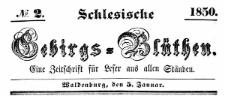 Schlesische Gebirgs-Blüthen. 1850-11-02 Jg. 16 Nr 64