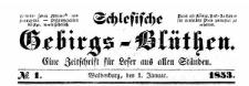 Schlesische Gebirgs-Blüthen. 1853-11-16 Jg. 19 Nr 92