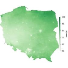 Średnia wilgotność powietrza we wrześniu