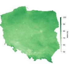 Średnia wilgotność powietrza w październiku