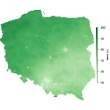 Średnia wilgotność powietrza w kwietniu
