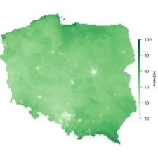 Średnia wilgotność powietrza w maju