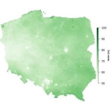 Średnia wilgotność powietrza w lipcu