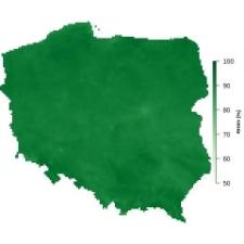 Średnia wilgotność powietrza w grudniu