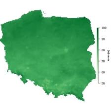 Średnia wilgotność powietrza w listopadzie