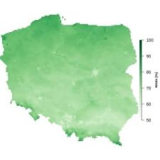 Średnia wilgotność powietrza w marcu