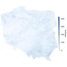 Suma opadów w sierpniu