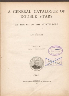 A General Catalogue of double stars within 121° of the North Pole. Part II. Notes to the Catalogue