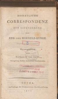 Monatliche Correspondenz zur beförderung der Erd- und Himmels-Kunde. Bd. XXIII.