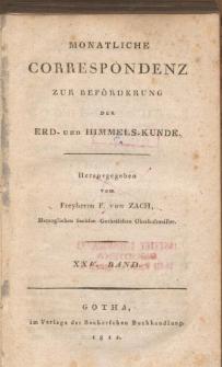 Monatliche Correspondenz zur beförderung der Erd- und Himmels-Kunde. Bd. XXV.