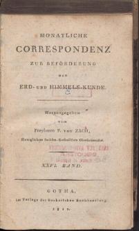 Monatliche Correspondenz zur beförderung der Erd- und Himmels-Kunde. Bd. XXVI.
