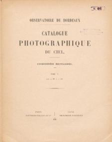 Catalogue Photographique du Ciel. Coordonnés rectilignes. T. V. Zone +12° A +14°
