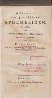 Allgemeine Geographische Ephemeriden. Bd. 1