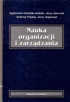 Nauka organizacji i zarządzania