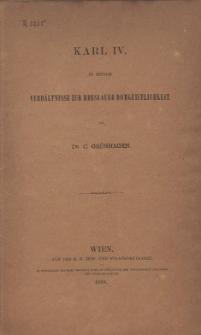 Karl IV in seinem Verhältnis zur Breslaur Domgeistlichkeit