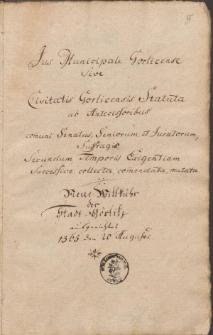 Görlitzsche Statuta