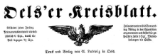 Oels'er Kreisblatt 20-03-1874 Jg. 12 Nr 13