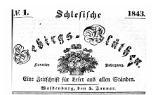 Schlesische Gebirgs-Blüthen. 1843-06-15 Jg. 9 Nr 24