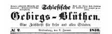 Schlesische Gebirgs-Blüthen. 1852-11-13 Jg. 18 Nr 91